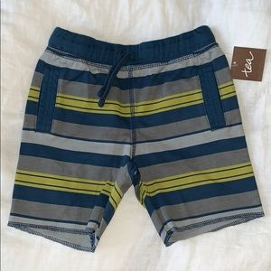 NWT Tea Collection Striped Shorts 18-24M